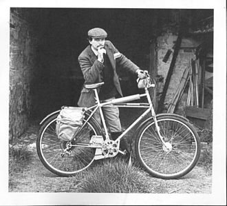 Geoff Apps - Apps with one of his 'Range Rider' off-road cycles