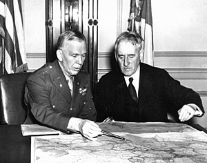 George Marshall - Marshall with Secretary of War Henry Stimson