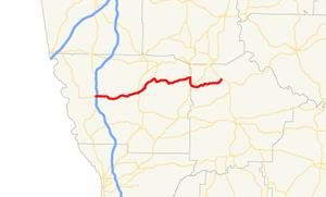 Georgia State Route 116 - Image: Georgia state route 116 map
