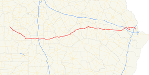Georgia State Route 30 - Image: Georgia state route 30 map