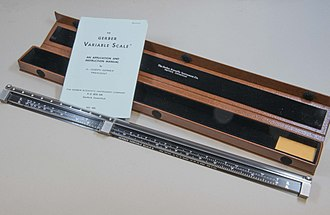 Gerber Scientific - The variable scale invented by Joseph Gerber in 1948