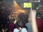 Public viewing of the match Germany vs. Argentina at the Donau Arena in Regensburg