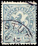Germany Stuttgart 1886 local stamp 3pf - 3 used.jpg