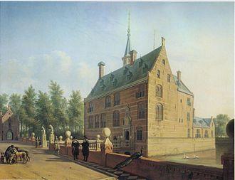 Heemstede Castle - Huis te Heemstede in 1667 by Gerrit Adriaenszoon Berckheyde from the North.