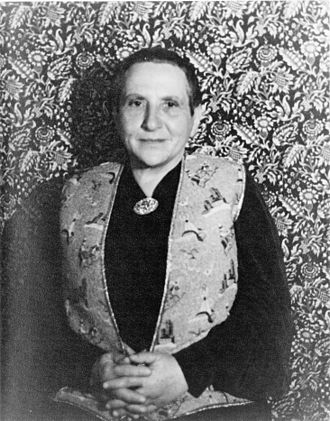 Virgil Thomson - Gertrude Stein (in 1934), photograph by Carl Van Vechten