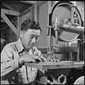 Gila River Relocation Center, Rivers, Arizona. Fred Umade, former grape farmer from Selma, Californ . . . - NARA - 537092.jpg