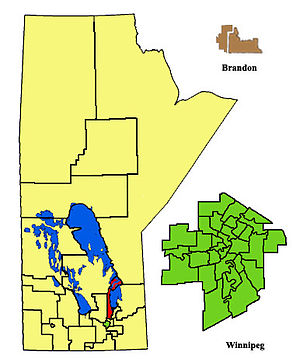 Gimli (electoral district) - Image: Gimli Electoral 2011