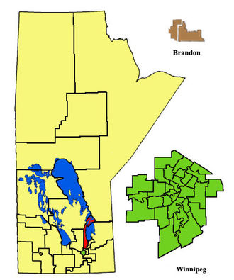 Gimli (electoral district) - Image: Gimli Electoral 2011