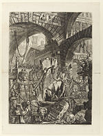 Giovanni Battista Piranesi - Le Carceri d'Invenzione - Second Edition - 1761 - 02 - The Man on the Rack.jpg