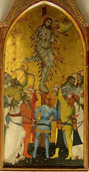 Giovanni del Biondo - Martyrdom of St Sebastian