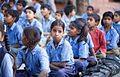 Girls and boys at school, Rajasthan (6363969443).jpg