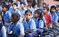 Girls and boys at school, Rajasthan (6363969443).jpg