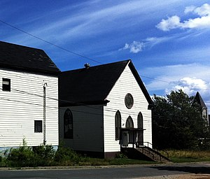 Oldest synagogues in Canada - 1901 building of Sons of Israel of Glace Bay.