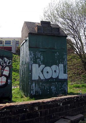 Partick - Doocot beside railway line.