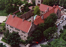 Aerial view of the Glessner House