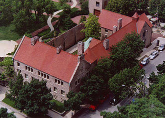 John J. Glessner House - Aerial view of the Glessner House Museum