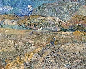 Gogh, Vincent van - Landscape at Saint-Rémy (Enclosed Field with Peasant) - Google Art Project.jpg