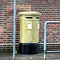 Gold Post Box, Post Office Road - geograph.org.uk - 3205887.jpg