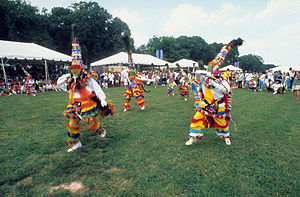 Fancy dance - Gombey dancers at the Smithsonian Folklife Festival in 2001.