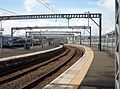 Gourock railway station, North Clyde Line. View from the north along platform 4.jpg