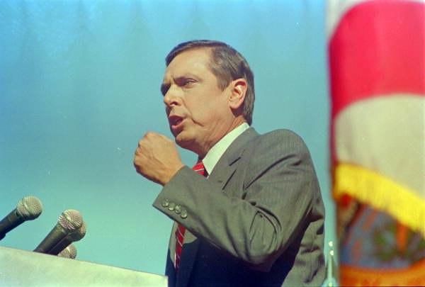 Governor Bob Martinez gives his inauguration speech