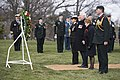 Governor General of Canada lays a wreath at the Tomb of the Unknown Soldier and the Canadian Cross of Sacrifice at Arlington National Cemetery (24826305862).jpg