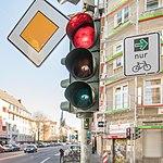 Grünpfeil nur für Radfahrer, Pilotprojekt in Köln-5597.jpg