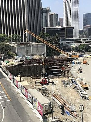 Grand Ave Arts station under construction.jpg