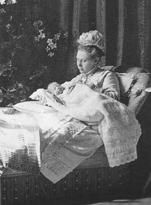 Grand Duchess Vera Constantinovna of Russia - Grand Duchess Vera with her son Charles-Eugen of Württemberg.