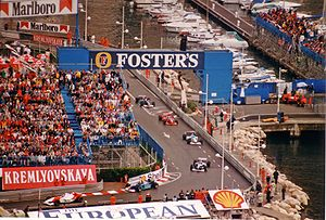 Parade lap - Formation lap of the 1996 Monaco Grand Prix