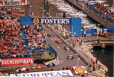 Formation lap for the 1996 Monaco Grand Prix