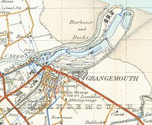A map of Grangemouth