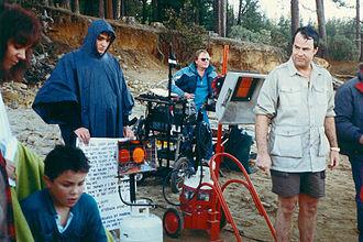 Dan Aykroyd - Aykroyd (right) on the set of The Great Outdoors, 1987