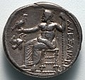 Greece, Macedonia, Alexander the Great - Tetradrachm- Zeus Seated on Throne (reverse) - 1916.981.b - Cleveland Museum of Art.jpg