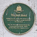 Green Plaque on Bell Hotel, Thetford.jpg