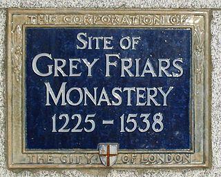 Greyfriars, London Franciscan friary in London