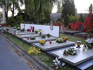 LOT Polish Airlines Flight 7 - Graves of the crew at Powązki Military Cemetery, Warsaw.