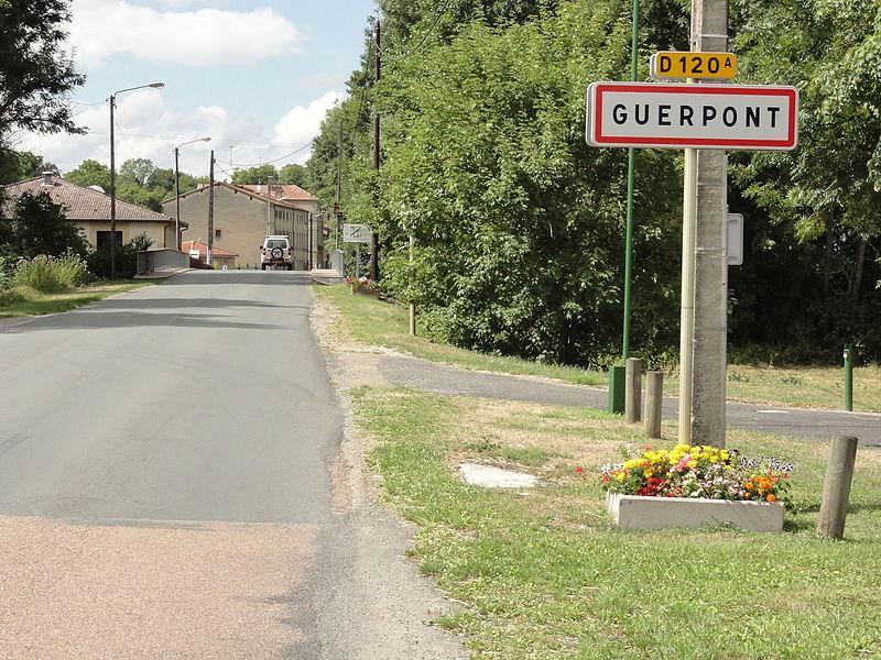 Guerpont (Meuse) city limit sign