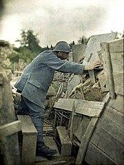Pohlednice z pozice Haut-Rhin, Francie, 1917