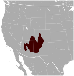 Gunnison's Prairie Dog Cynomys gunnisoni distribution map.png