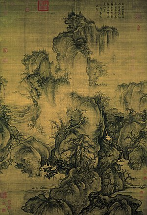 Guo Xi - Early Spring, signed and dated 1072. Hanging scroll, ink and color on silk 158.3x108.1. National Palace Museum, Taipei.