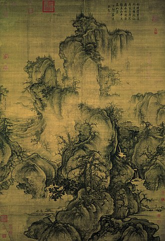 Shan shui - Early Spring, painted by Northern Song dynasty artist Guo Xi (c.1020 – c. 1090 AD)