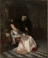 Gustav Vasa finner sin gemål Katarina Stenbock sovande och hör henne säga - Nationalmuseum - 132612.tif
