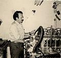 Guy Chambelland dans son imprimerie, années 60..jpg