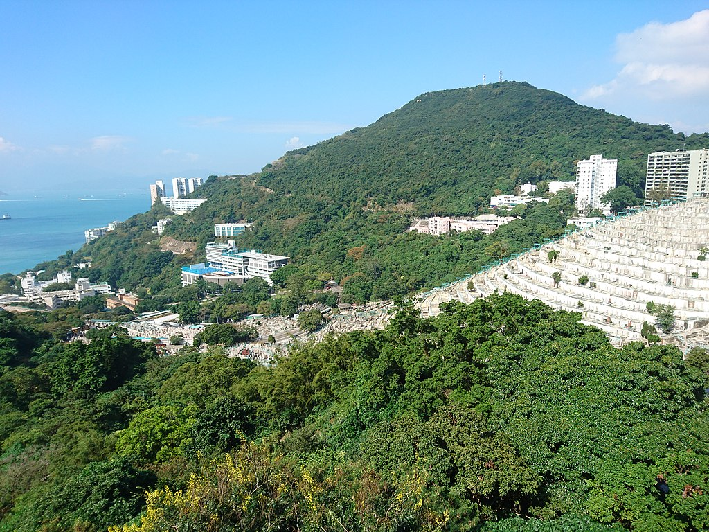 HKCCU Pok Fu Lam Road Cemetery viewed from Bisney Road