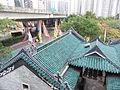 HK Shau Kei Wan Hong Kong Art School view 譚公廟 Tam Kung Temple 01 Chinese roof April-2012.JPG