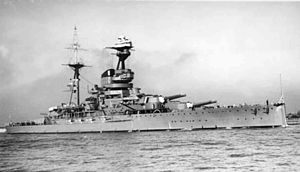 Algernon Willis - HMS ''Resolution'', Willis's flagship as second-in-command of the Eastern Fleet
