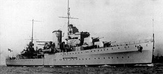 Battle of Cape Passero (1940) - Image: HMS Ajax