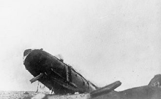 SS Arcadian - Arcadian sinking after being torpedoed. Men can be seen sliding down ropes into the sea