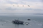 HMS Queen Elizabeth sails into her home port of Portsmouth for the first time MOD 45162972.jpg